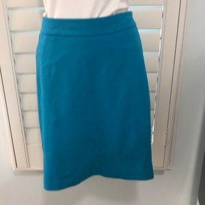 NWOT. Scuba Blue Pencil skirt by Trina Turk